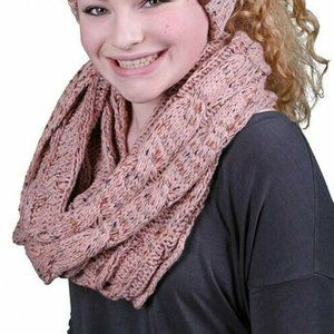 CC Exclusives One Size Cable Knit Infinity Scarf